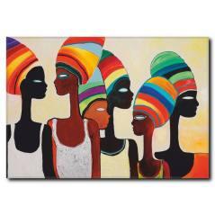 Renkli Kadınlar Kanvas Tablo WM-1009