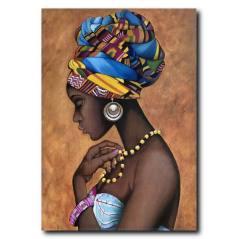Afro Kadın Kanvas Tablo WM-1011