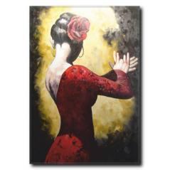 Flamenko Dansçı Kadın Tablosu