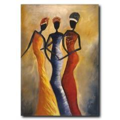Afrikalı Kadınlar Kanvas Tablo