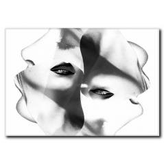 Kadın Yüzü Temalı Kanvas Tablo