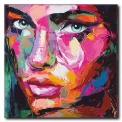 Renkli Kadın Portre Tablo