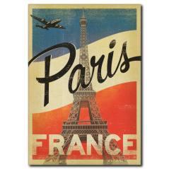 Paris Vintage Poster Kanvas Tablo