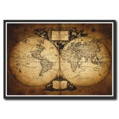 Eski Dünya Haritası Kanvas Tablo
