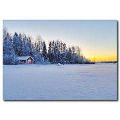 Kar Manzarası Detaylı kanvas Tablo