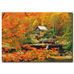 Sonbahar Temalı Kanvas Tablo