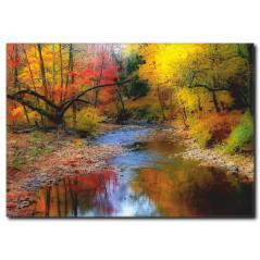 Sonbahar ve Doğa Temalı Kanvas Tablo