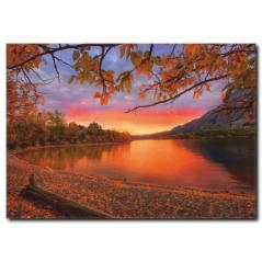 Sonbahar ve Günbatımı Temalı Kanvas Tablo