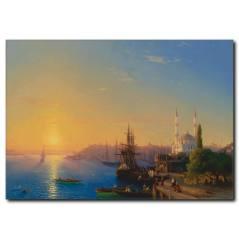 Eski İstanbul Yağlıboya Kanvas Tablo