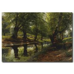 Orman Temalı Kanvas Tablo