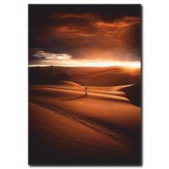 Çölde Günbatımı Kanvas Tablo