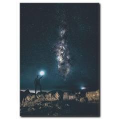 Kuzey Işıkları Kanvas Tablo