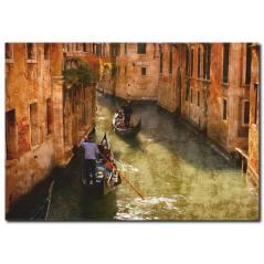 Venedikte Kayıkçı Kanvas Tablo
