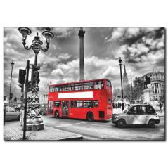 Siyah Beyaz Şehir Manzarası Kanvas Tablo