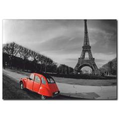 Kırmızı Araba ve Eyfel Kulesi Tablosu