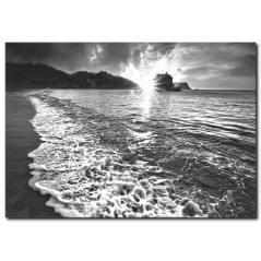 Akşam Güneşi ve Deniz Manzarası Tablo
