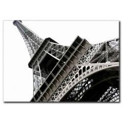 Siyah Beyaz Eyfel Kulesi Temalı Tablo