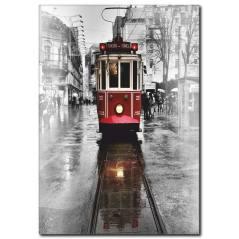 Nostaljik Tramvay Kanvas Tablo