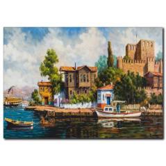 Yağlı Boya İstanbul Manzaralı Tablo