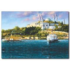 İstanbul Yağlı Boya Kanvas Tablo