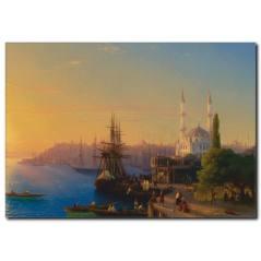 Eski İstanbul Manzara Tablosu
