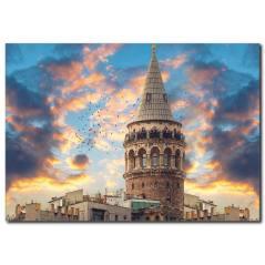 Popüler Galata Kulesi Kanvas Tablo ST-1018