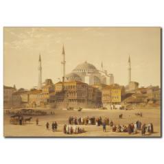 Eski İstanbul Temalı Yağlı Boya Tablo