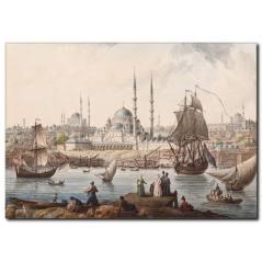 Osmanlı Dönemi İstanbul Kanvas Tablo