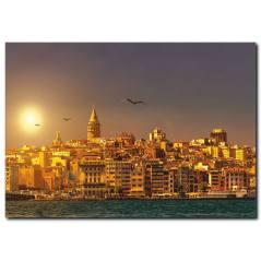 İstanbul Temalı Kanvas Tablo