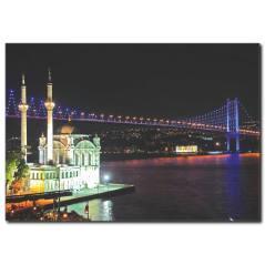 İstanbul Gece Manzaralı Kanvas Tablo