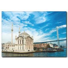 Ortaköy ve Boğaz Manzaralı Kanvas Tablo