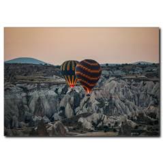 Ürgüp ve Uçan Balonlar Kanvas Tablo