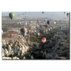 Ürgüp ve Gökyüzünde Balonlar Kanvas Tablo