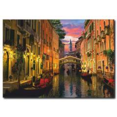 Renkli Venedik Kanvas Tablo