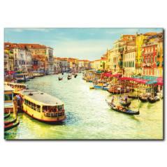Venedik Sandal Keyfi Temalı Kanvas Tablo