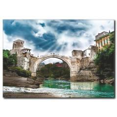 Mostar Köprüsü Temalı Kanvas Tablo