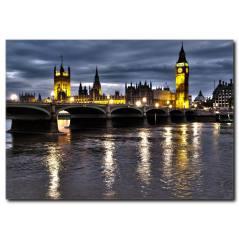 Londra Köprüsü Temalı Kanvas Tablo