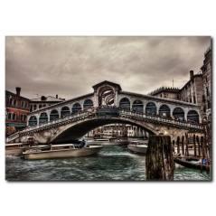 Venedik Taş Köprü Kanvas Tablo