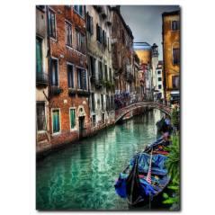 Rengarenk Işıltılı Venedik Kanvas Tablo
