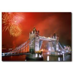Londra Köprüsü Gece Manzarası Kanvas Tablo