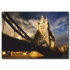 Londra Köprüsü ve Şehir Manzarası Kanvas Tablo