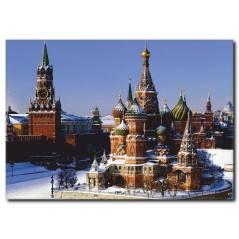 Moskova Kızıl Meydan Kanvas Tablo