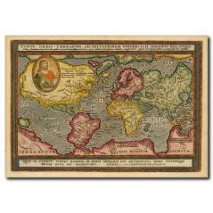 Eskitme Antika Harita Kanvas Tablo