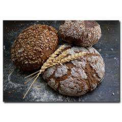 Buğdaylı Ekmek Temalı Kanvas Tablo
