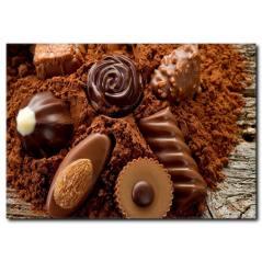 Kakaonun Eşsiz Lezzeti Temalı Kanvas Tablo
