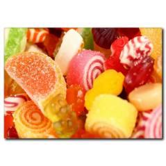Renkli Şekerlemeler Temalı Kanvas Tablo