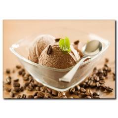 Kahveli Dondurma Temalı Kanvas Tablo