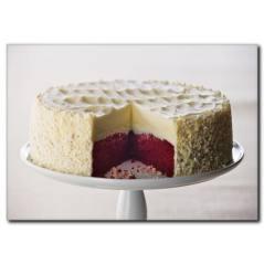 İki Renkli Pasta Temalı Kanvas Tablo