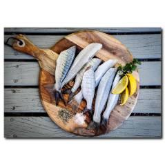 Balık Çeşitleri Temalı Kanvas Tablo