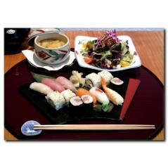 Sushi Tabağı Temalı Kanvas Tablo